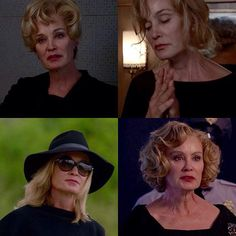 Jessica Lange: Constance, Murder House. Sister Jude, Asylum. Fiona, Coven. Elsa, Freak Show. I will miss her so much!
