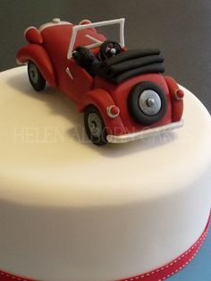 Vintage Car Cake Classic truck Birthday Cakes jm wedding