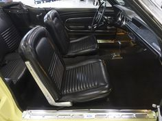 The 1967 Ford Mustang Convertible featured here is finished in the stunning factory color combination of Springtime Yellow over a black interior and black power folding convertible top. Mustang Convertible For Sale, North America, Vehicles, Car, Vehicle, Tools