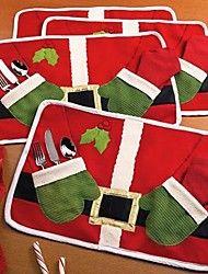 doble rojo navidad mesa productos estera de santa comer estera