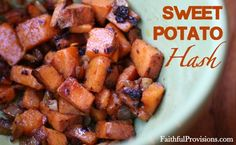 Sweet Potato Hash | The Perfect recipe side with eggs for breakfast, or as a casserole with chicken sausage for dinner.