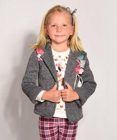 Love this Gray Rosette Blazer - Toddler & Girls on #zulily! #zulilyfinds