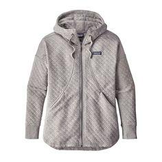 W's Organic Cotton Quilt Hoody, Drifter Grey (DFTG)
