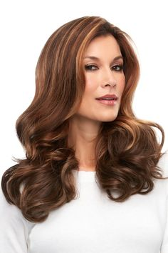 easiPart French 18 - This clip in topper, worn over the part, adds volume to long styles with beautiful remy human hair. The design is hand tied using French knotting, a superior knotting technique that creates the most natural appearance possible Remy Human Hair, Human Hair Wigs, Short Styles, Long Hair Styles, Best Wig Outlet, Jon Renau, Wig Stand, Hair Toppers, Textured Hair