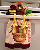 Ravelry: THANKSGIVING TURKEY TOWEL TOPPER pattern by Patricia Marie