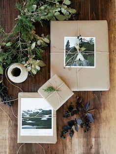 Comment mettre en valeur ses photos papier cadeau fait main fait maison diy personnalisable personnalise photo de nature deco eucalyptus papier kraft noel cadeau ambiance naturel ecolo