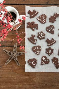 Simple Cocoa Cookies / Kakao Kekse {flowers on my plate}