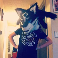 The finished head of aizon's wolf costume! Wolf Costume, Daughter, T Shirts For Women, Costumes, Artist, Tops, Fashion, Moda, Dress Up Clothes