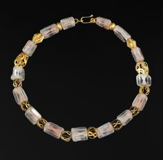 Peru   Rock crystal and good bead necklace.  Recently restrung with a new clasp added.  Beads from Chavin period; 1000 - 400 BC   840€ ~ sold