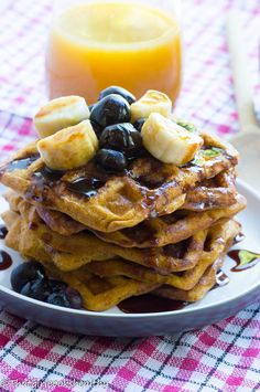 Sweet potato waffles (Paleo and gluten free)