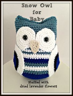 Baby owl set nursery gift blue snow owl and by TheRainyAppleShoppe, $50.00