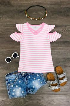 Toddler Kids Baby Girls Lively Suit Mushroom Stripe Print Tops+Pants Outfit Set