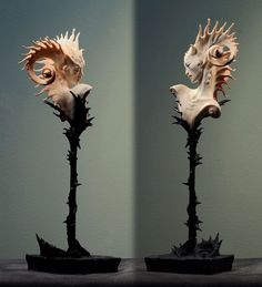 Tagged with art, cool, sculpture; Sculptures of artist Forest Rogers Vanitas, Sculptures Céramiques, Lion Sculpture, Fan Art, Arte Popular, Creature Design, Fantasy Creatures, Art Dolls, Dragons