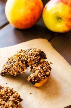 Nutritious snack idea - http://www.cookingquinoa.net/chocolate-quinoa-apple-wedges