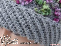 """МК сделан на основе шапки """"Сирень"""", фото изделия тут - http://www.stranamam.ru/ Чтобы вписаться в 20 фоток (по требованиям группы), я решила оставить здесь информацию только по вязанию диагональной"""