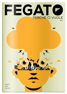 Fegato Magazine, cover illustration by Marco Goran Romano.