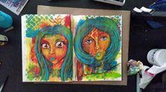 100 Faces Challenge : 12 & 13. Miranda Bosch - Thurlings