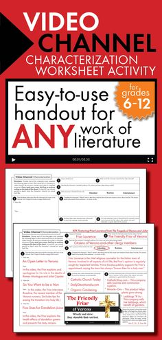 Print-and-teach worksheet to use with any novel, play, or short story. #highschoolEnglish #middleschoolEnglish
