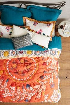 Anthropologie Zocalo Embroidered Quilt #anthroregistry