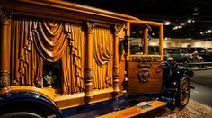 In the first half of the 20th century, some hearses featured extensive, elaborate woodwork.