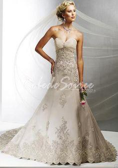 magnifiques a lineprincess sweetheart robes de marie en satin tulle dress06090048 - Complicit Mariage Robe Cocktail