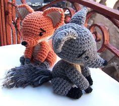 Crochet Pattern Baby Gray Fox-Instant Download by ElenasTimes