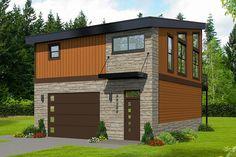 Above Garage Apartment, Garage Apartment Plans, Garage Apartments, Garage Plans, Garage Ideas, 1 Bedroom Apartment, Barn Plans, Modern Garage, Modern House Plans