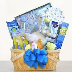 Shop the Best in adorable baby baskets and send baby gift baskets and baby gifts for baby showers and new baby arrivals. Free embroidery and 100% Satisfaction!