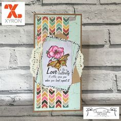 Xyron and Deep Red Stamps | Sharon Callis Crafts