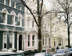 HOUSES COLOURED HOUSES NOTTINGHILL LONDON