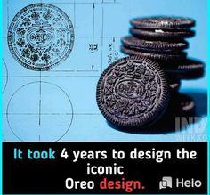 It took 4 years to design the Oreo design.