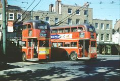 London Trolleybuses on route 611 at Highgate Village terminus