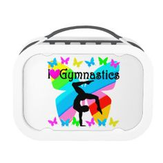 LOVE GYMNASTICS FOREVER DESIGN LUNCH BOX Brand new! Awesome one of a kind Gymnastics Tees and Gifts. http://www.zazzle.com/mysportsstar/gifts?cg=196751399353624165&rf=238246180177746410   #Gymnastics #Gymnast #WomensGymnastics #Gymnastgift #Lovegymnastics #PersonalizedGymnast