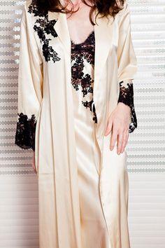 Trousseau: Long nightgowns and silk robes | Violette Lingerie | Lingerie, Swimwear, Cruisewear, Nightwear, Hosiery ...