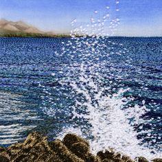 """Seascapes Book Project - """"Splash"""" by Alison Holt, Textile Artist"""