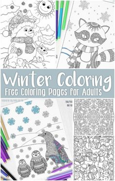 Free Coloring Books for Kids Free Printable Winter Coloring Pages for Adults Coloring Pages Winter, Mandala Coloring Pages, Christmas Coloring Pages, Animal Coloring Pages, Coloring Pages To Print, Coloring Book Pages, Printable Coloring Pages, Coloring Sheets, Free Adult Coloring