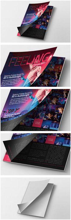 Magazine Mockup Cover Opening