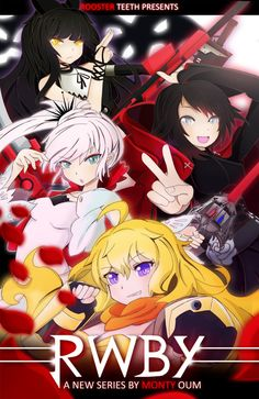 RWBY Movie Poster by SylphineSnowphire on DeviantArt Rwby Fanart, Rwby Anime, Chica Anime Manga, Anime Art, Fire Emblem, Red Like Roses, Blake Belladonna, Team Rwby, Red Vs Blue