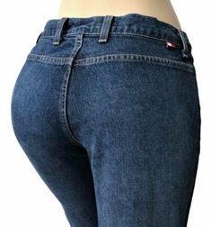 Tommy-Hilfiger-Womens-Jeans-Size-30-x-33-Flare-Pocketless-Boho-Hippie-Blue-Denim