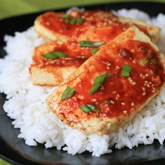 "Baked Tofu Slices I ""Lately I've been trying out a bunch of different tofu recipes. This is one of my favorites to date! Nice and spicy, just how I like it, and very easy."""