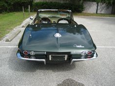 '65 Glenn Green Corvette Convertible with 327 CID, 4 speed, Vintage Air, Side Pipes, Original wheels and hubcaps, rust free chassis, big block hood is GM, not aftermarket. Drive this car anywhere. Corvette Convertible, Vintage Air, Rust Free, Car Car, Pipes, Wheels, Cars, Big, Green