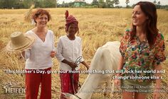 Bonus Photo of the Week: Susan Sarandon asks for a gift from Heifer this Mother's Day