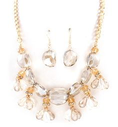 Crystal Libby Necklace in Champagne/Fashion Jewelry/Emma Stine