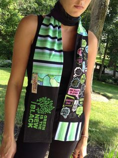 Meet Craftin' Outlaw: Re-Tee Scarves are all about design and recycling unique scarves from old t shirts. http://www.reteescarves.etsy.com