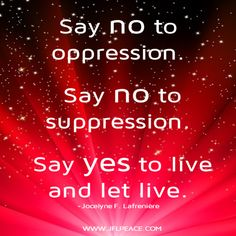 Say yes to live and let live.