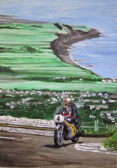 """Ilustracion Publicitaria Mike """"The Bike"""" Hailwood"""