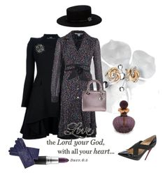 """""""Sunday Best Dressed: with all your heart"""" by kjlnelson ❤ liked on Polyvore featuring Cyan Design, Alexander McQueen, Diane Von Furstenberg, Christian Louboutin, Christian Dior, Blue Nile, Gladys Tamez Millinery, MAC Cosmetics, Chanel and Baldi"""