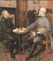 On this day....9th April 1865 - Confederate General, Robert E. Lee, surrenders his Army of Northern Virginia to General Ulysses S. Grant at Appomattox Court House, Virginia, marking the end of the American Civil War. http://www.historicalshirts.com/American-Civil-War/View-all-products.html