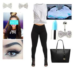 """""""super cute"""" by azaria0112 ❤ liked on Polyvore featuring VILA, Charlotte Russe, Lime Crime and MICHAEL Michael Kors"""