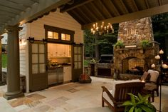13 Kitchen Trends of 2014 // An outdoor kitchen! What a great idea!!